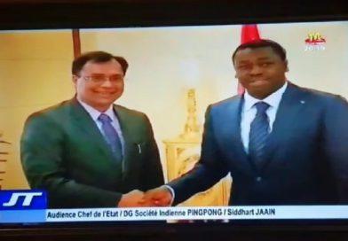 Le DG de Pingpong reçu par le Président Togolais